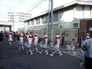 鼓笛隊パレード風景